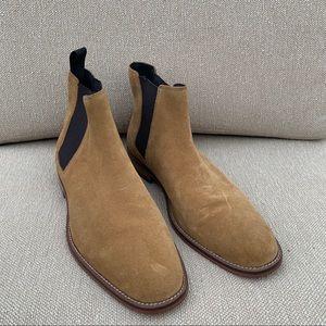 Sandro Men's Suede Chelsea Yellow Tan Boots